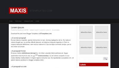 best blogger templates-Maxis