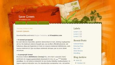 best blogger templates-Save Green