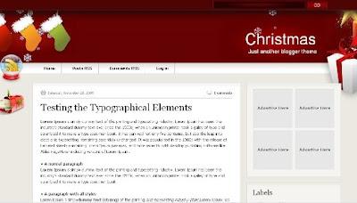 best blogger templates-Christmas V1.0