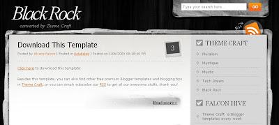 best blogger templates-Black Rock