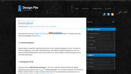 Best Blogger Themes/Templates 2010
