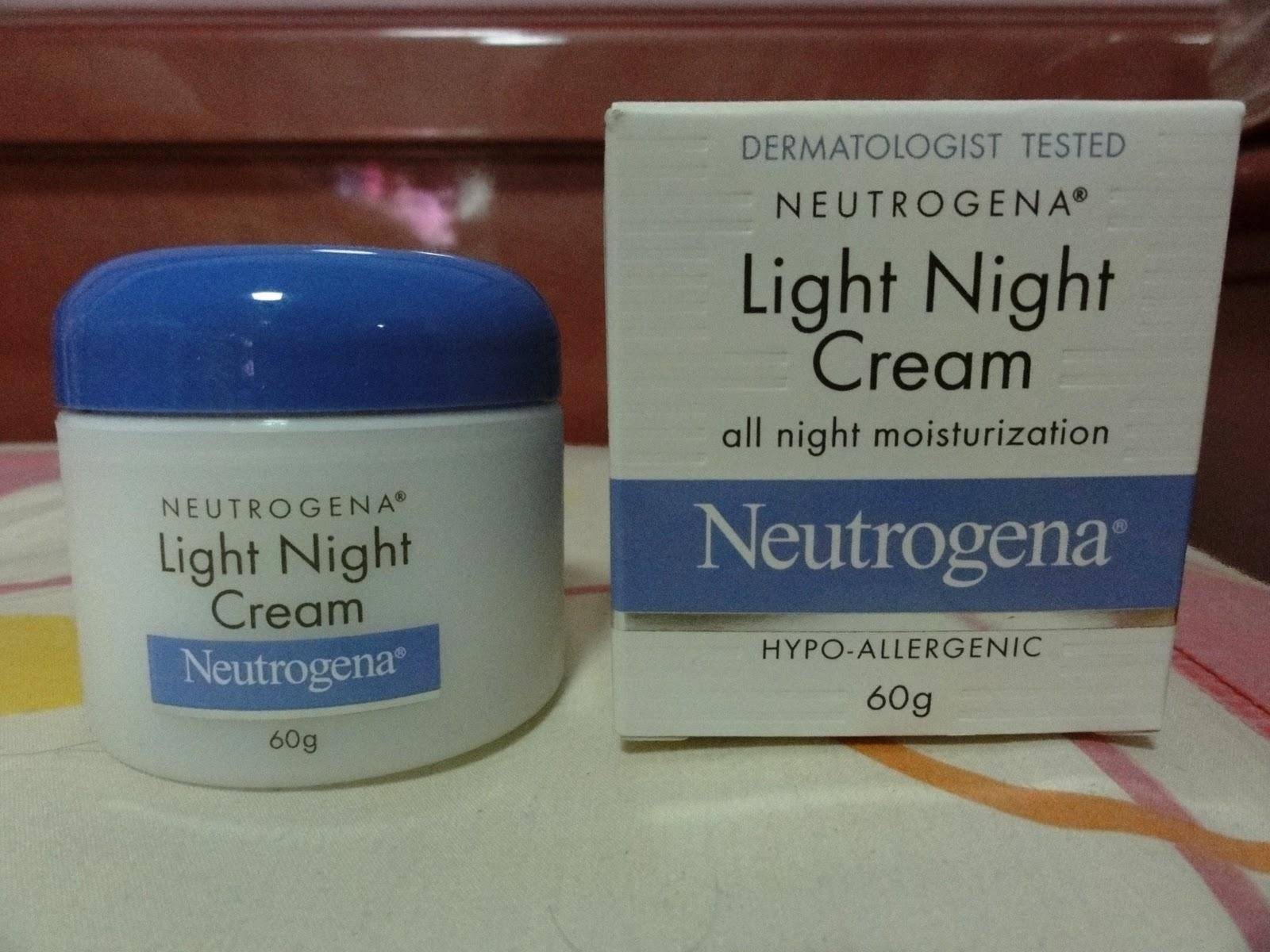 neutrogena light night cream i am vichittra. Black Bedroom Furniture Sets. Home Design Ideas