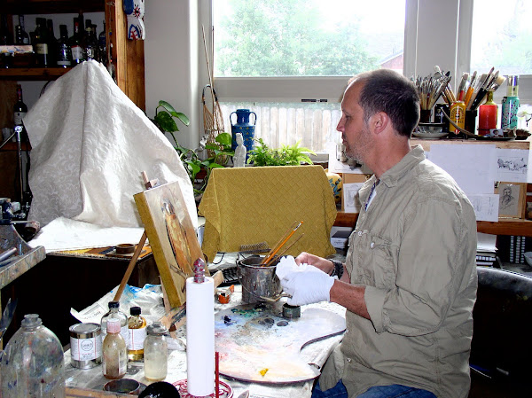 Painting in my Studio