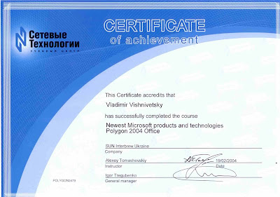 certificate of microsoft office