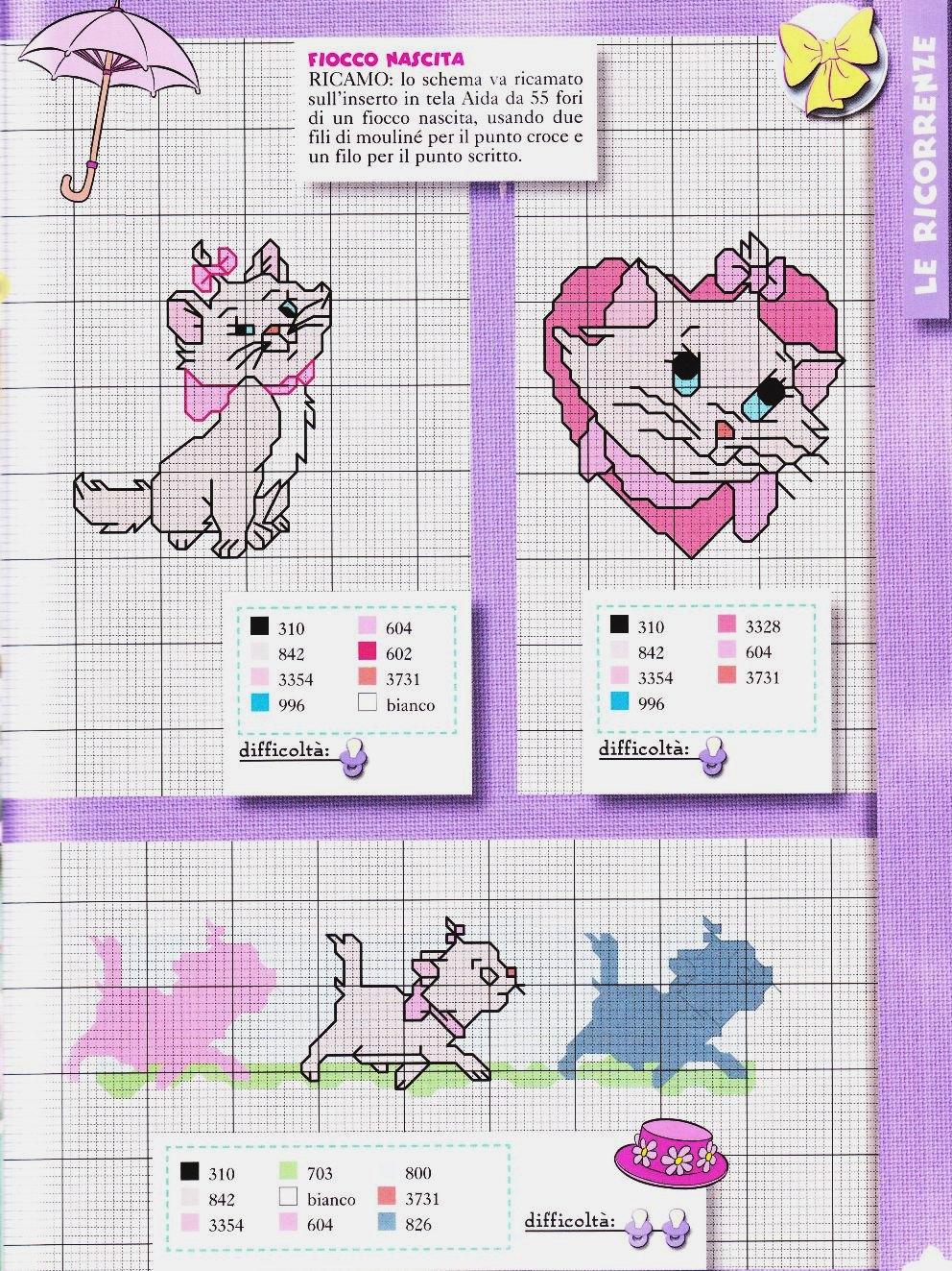 Кошки, котики, коты.24 схемы для вышивки крестом ВЫШИВКА
