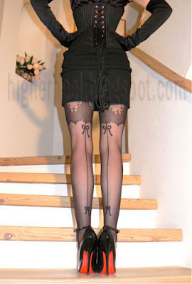 sexy stockings and 6 inch stilettos
