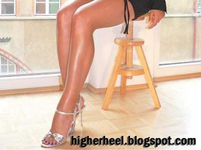 4,5 inch silver high heel sandals