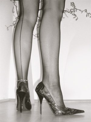 italian stilettos and stockings