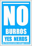 NO burros, YES nerds