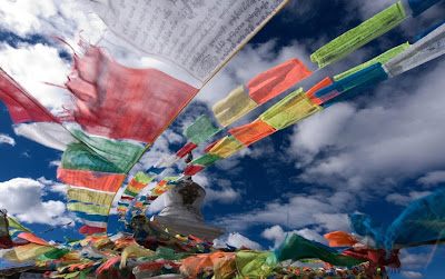 Prayer Flags, blessings, Tibbet