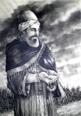 Spiritual Portrait of Rumi by Zed