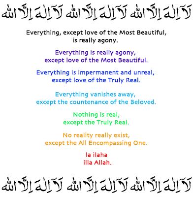 Sufi Inforgraphics La ila illaLlah kalima gnosis meaning of la ila illaAllah