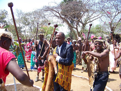 Inkosi Gomani at the Ngoma or Ngoni Festival