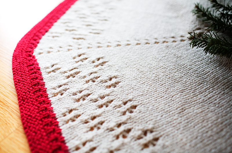 Knitting Pattern Christmas Tree Skirt : i am what i knit