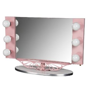 Lighted Vanity Top Mirror : Decorating theme bedrooms - Maries Manor: Hollywood At Home - decorating Hollywood glam style ...