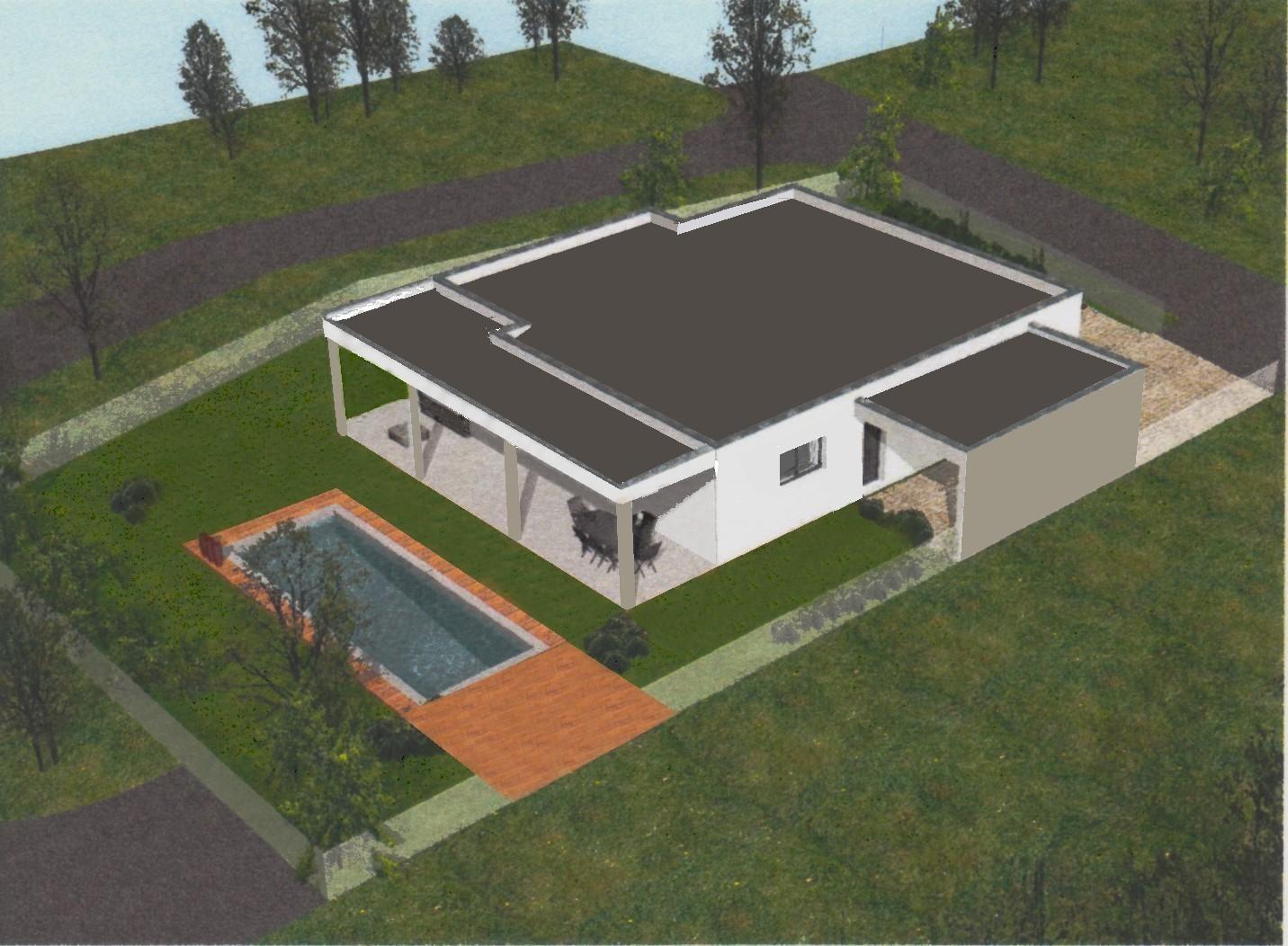 Notre projet une maison toit terrasse notre projet - Plan maison entree sud ...