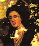 Head of Our Lady from a fresco in the Gunter House, Abergavenny