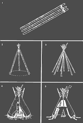 survival shelter tepee 3 pole