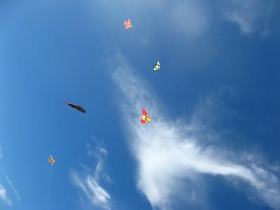 barriletes en el cielo de Mar Azul