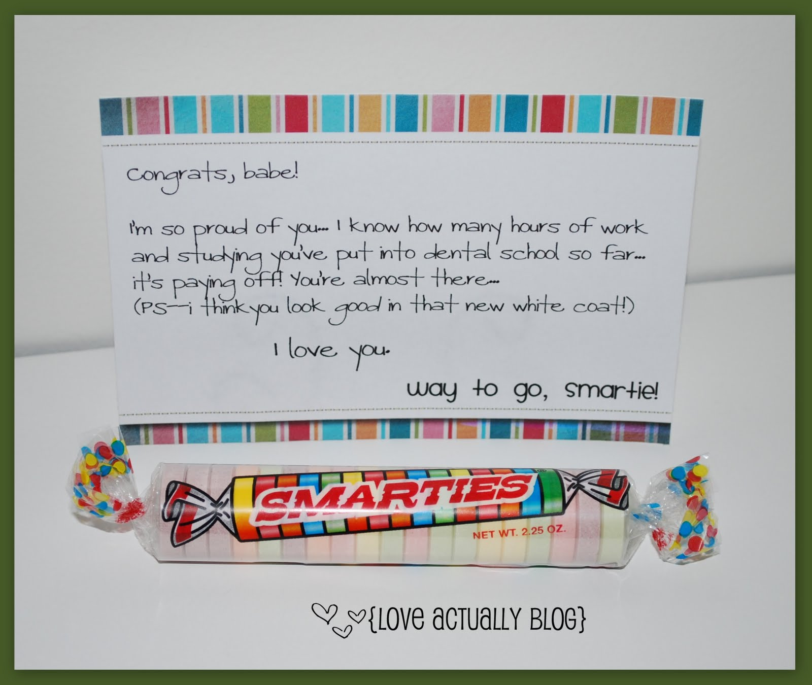 Love, Actually: March 2010 Smarties Test