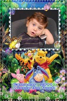 Calendar  2011  pentru  copii  cu  Winnie the Pooh,  format  20x30
