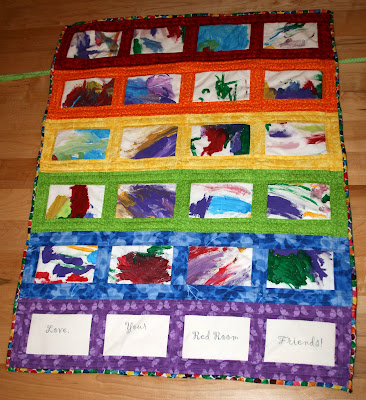 a little of this: Preschool Art Quilt