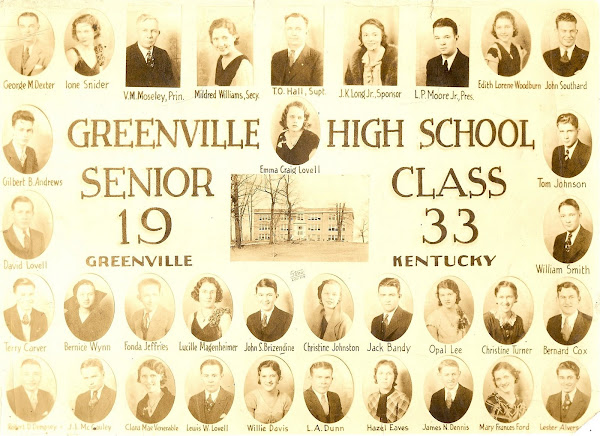 1933 Graduating Class, Greenville High School