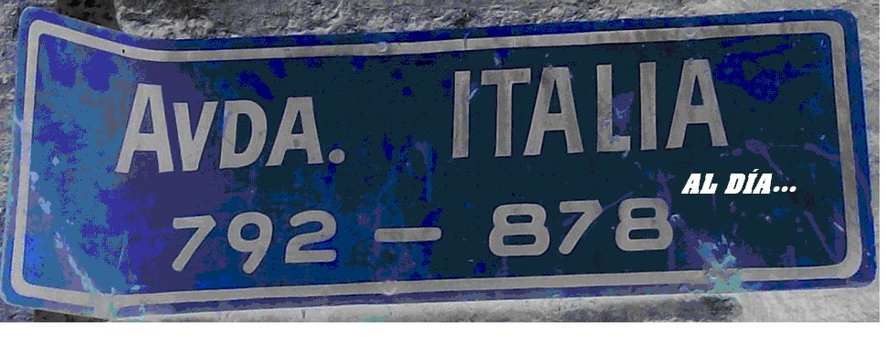 Avenida Italia al día