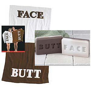[buttface+towel]
