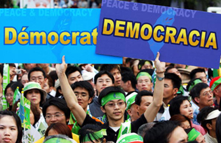 democracia sociedad: