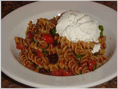 Gemelli with Tomatoes, Olives, and Ricotta (modified from Real Simple ...