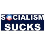 SOCIALISM SUCKS BUMPER STICKERS & SHIRTS