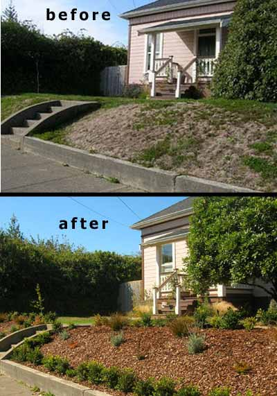 latest entertainment news  sloped front yard landscaping pictures