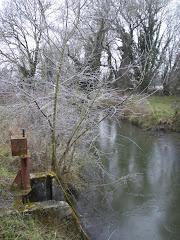 Sous la glace circule l'eau glacée.