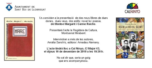 Nuevos libros de Montse Margarit y Carme Raichs