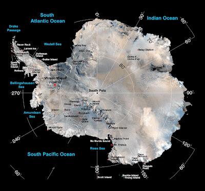 Antártica, a gigantesca massa continental situada no polo sul que esconde intocadas jazidas de minérios e biodiversidades, reservas energéticas que serão motivo de confrontos entre nações num futuro não muito distante
