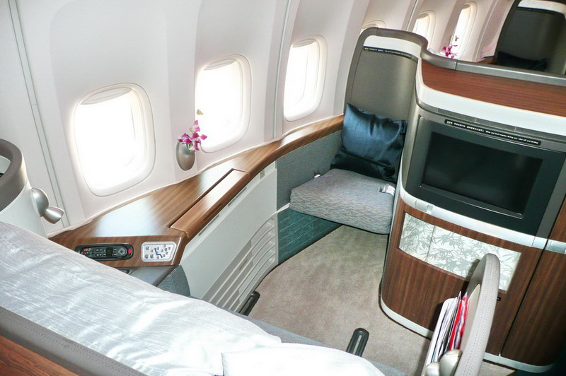 cheaptravel: Cathay Pacific CX 747 First class cabin