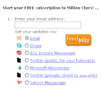 Subscription Options of Feedblitz Email Service