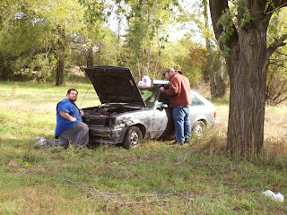Me and brother working on chevette