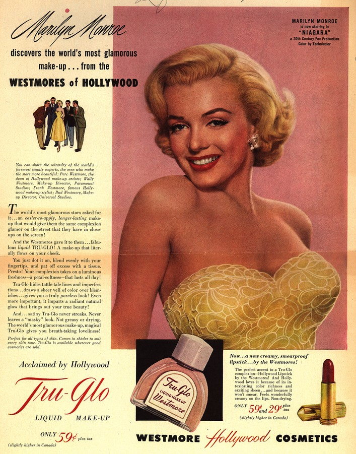marilyn monroe hairstyles. Foundation Ad