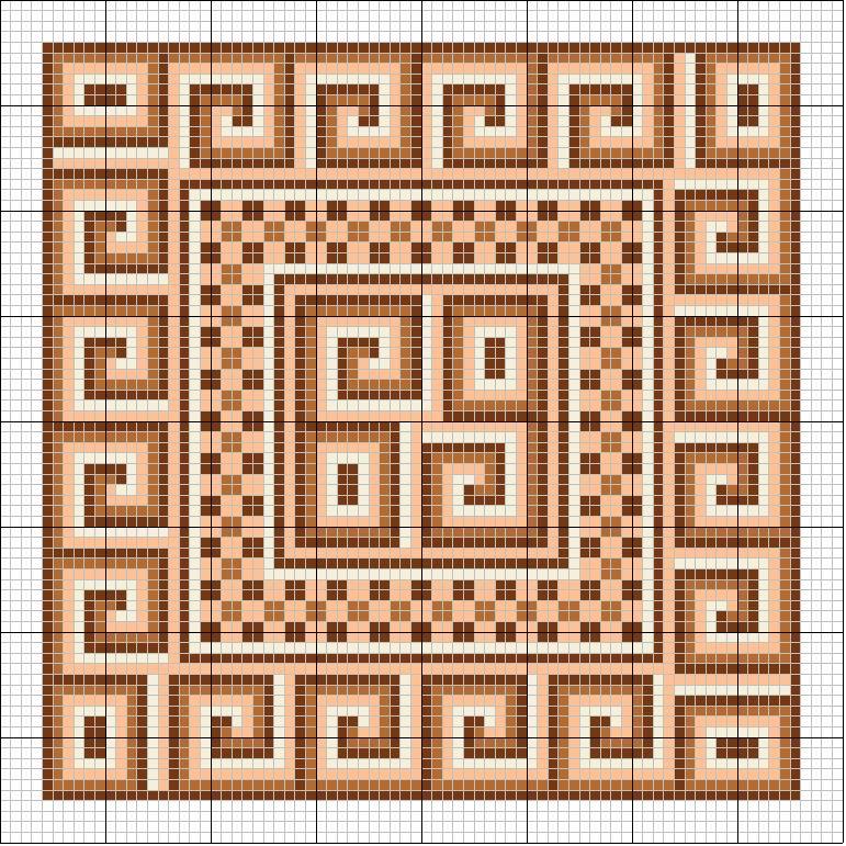 Вышивки крестиком геометрические узоры схемы 6