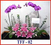 rangkaian bunga untuk pembukaan kantor baru atau toko baru