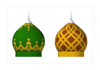 kubah masjid, kontraktor kubah, enamel, atap