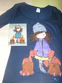 camiseta niña con zorros