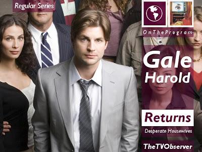 THETVOBSERVER!: TheTVObserver: Gale Harold Returns