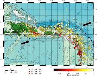 Republica Dominicana y el Caribe bajo, bajo amenaza sísmica 5+ubicacion+terremotos+quantum.com.do