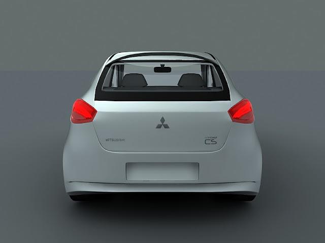 2011 mitsubishi cs concept rear view 2011 Mitsubishi CS