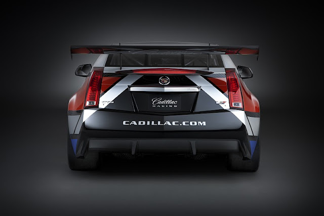 2011 cadillac cts v coupe race car rear view 2011 Cadillac CTS V Coupe Race Car