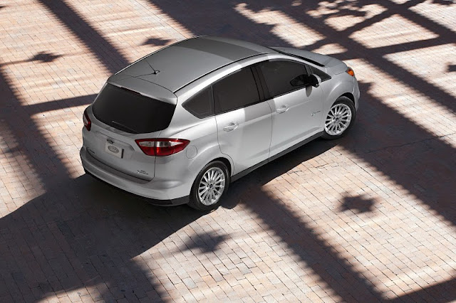 2013 ford c max hybrid rear side top view 2013 Ford C MAX Hybrid
