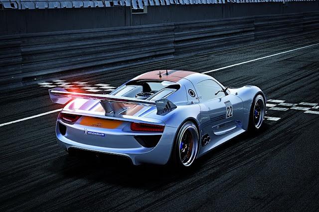 2011 porsche 918 rsr coupe concept rear angle view 2011 Porsche 918 RSR Coupe